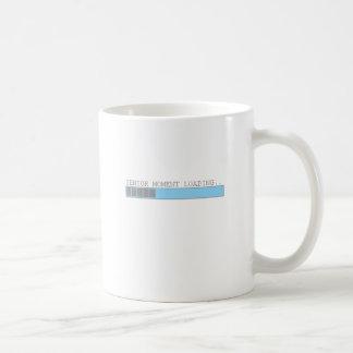 Momento mayor que carga humor mayor jubilado diver taza de café