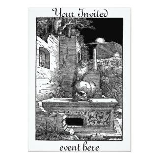 Momento Mori Cemetery Invitation