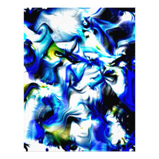 momentos de color, azul, blanco, amarillo membrete personalizado