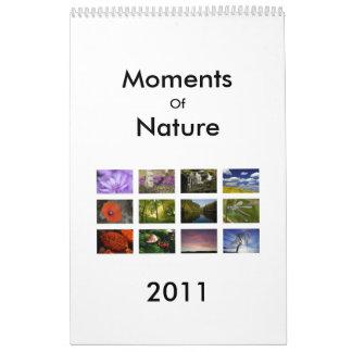 Momentos de naturaleza calendarios de pared