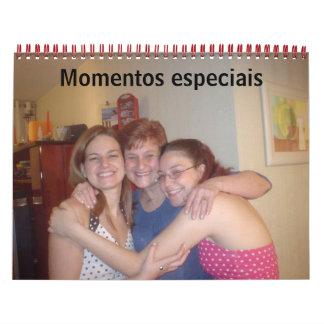 Momentos especiais wall calendars