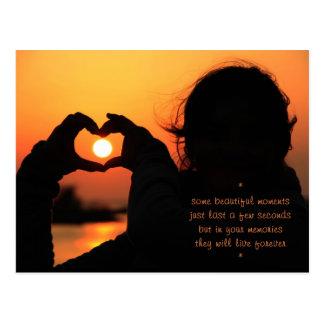 Momentos especiales - amor tarjeta postal