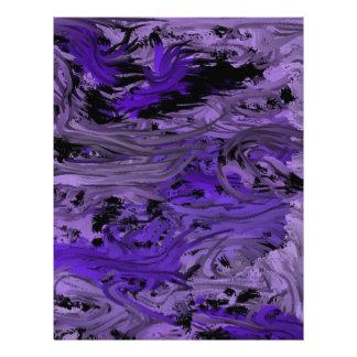 momentos impresionantes por completo de púrpura de membrete a diseño
