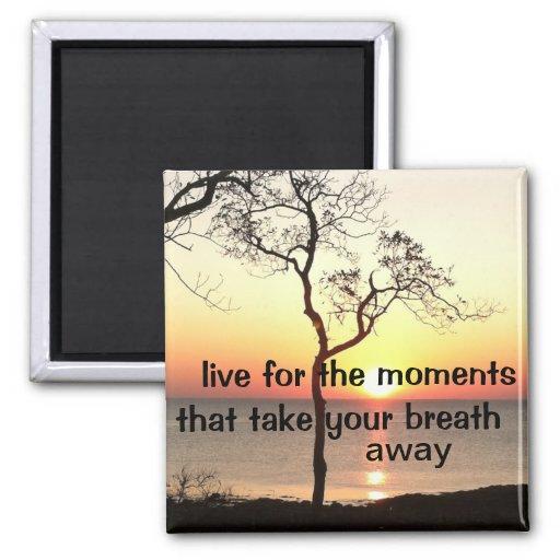 Momentos inspirados de la vida imanes