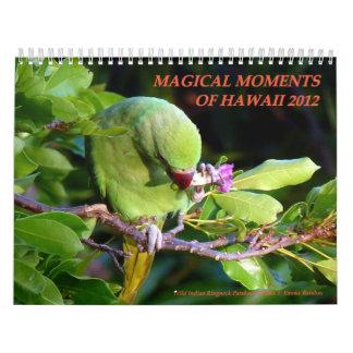 Momentos mágicos de Hawaii 2012 Calendarios De Pared
