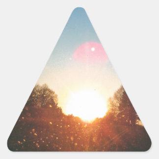 Momentos preciosos pegatina triangular