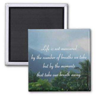 Momentos que eliminan nuestra respiración imán cuadrado