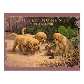 Momentos-Tres DE ORO una muchedumbre Tarjetas Postales