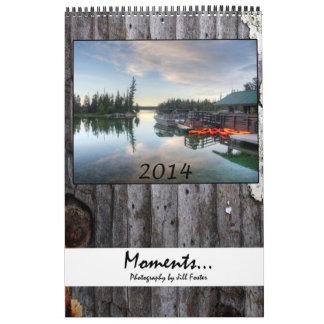 Moments 2014 wall calendar