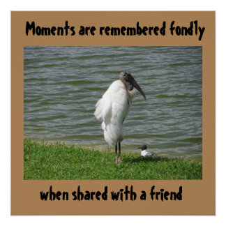 Moments Are Remembered Fondly, Glossy Poster