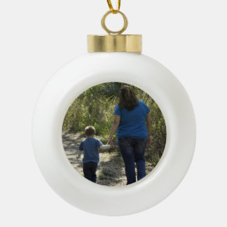 Moments Captured Ceramic Ball Christmas Ornament