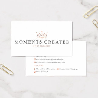 Moments Created Photography Business Card