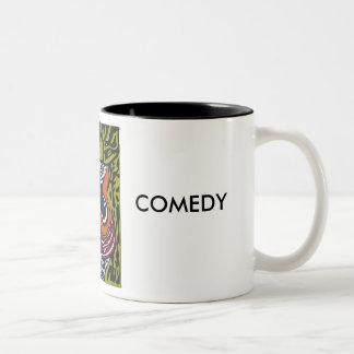 """Moments"" Mug; COMEDY & TRAGEDY Two-Tone Coffee Mug"