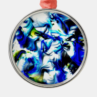 moments of color, blue,white,yellow ornament