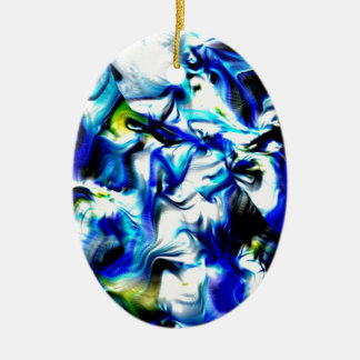 moments of color, blue,white,yellow christmas tree ornament