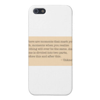 Moments quote case for iPhone 5