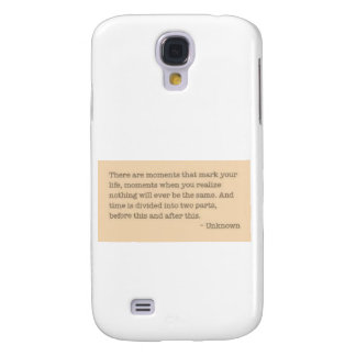 Moments quote galaxy s4 cover