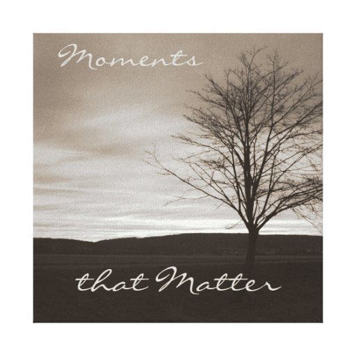 Moments that Matter Black and White Canvas Print