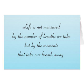 Moments That Take Our Breath Away Stationery Note Card
