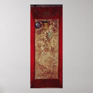 Momia con las mercancías de la corona y del sepulc póster