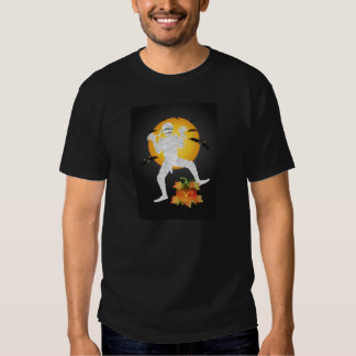 Momia de Halloween con la camiseta tallada de la Playeras