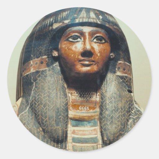 Momia de Katebet Pegatina Redonda