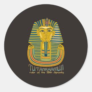 Momia de Tutankhamun, el rey antiguo Tut de Egipto Pegatinas Redondas