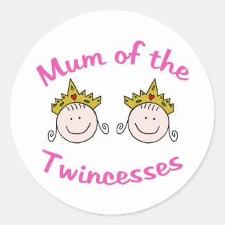 Momia de Twincess Pegatina Redonda