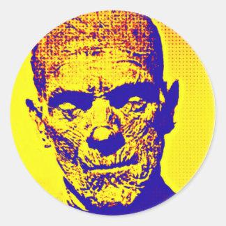 Momia del arte pop pegatina redonda