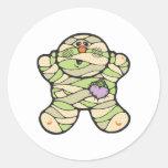 momia del bebé etiquetas redondas