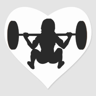 momia del entrenamiento pegatina en forma de corazón
