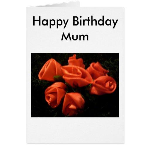 Momia del feliz cumpleaños tarjeta de felicitación