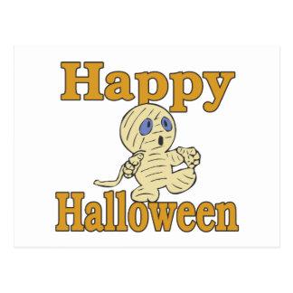 Momia del feliz Halloween Postal