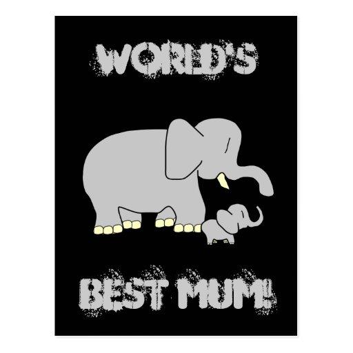 ¡Momia del mundo del amor de Tusl la mejor! Postal