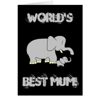 ¡Momia del mundo del amor del colmillo la mejor! T Tarjeta De Felicitación