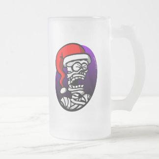 Momia del navidad taza de cristal