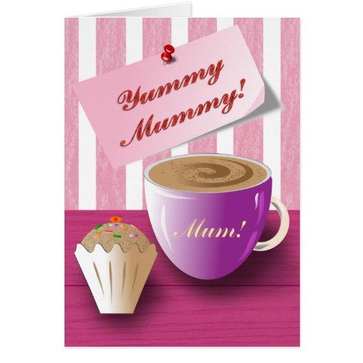 Momia deliciosa del día de madre felicitacion