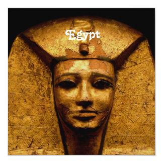 """Momia egipcia invitación 5.25"""" x 5.25"""""""