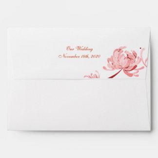 Momia en sobres rosados de la invitación A7 del