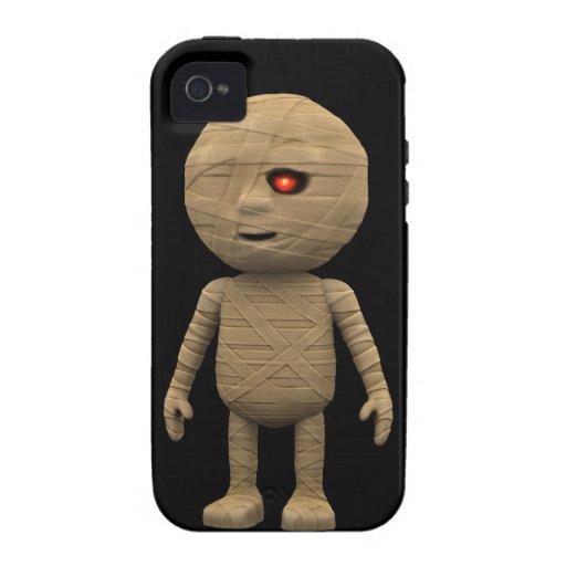 momia espeluznante de 3d Halloween (editable) iPhone 4 Funda