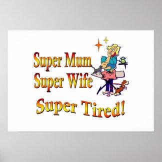 Momia estupenda, esposa, cansada. Diseño para las  Póster