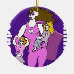 Momia estupenda ornaments para arbol de navidad