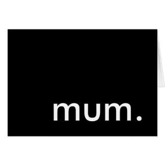momia. fiesta de sorpresa tarjeta de felicitación