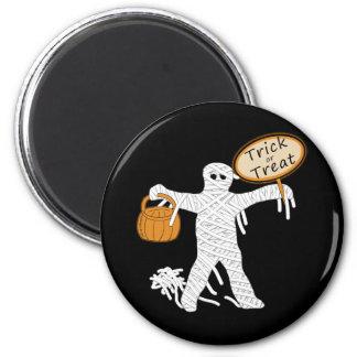 Momia Halloween del truco o de la invitación Imán Redondo 5 Cm