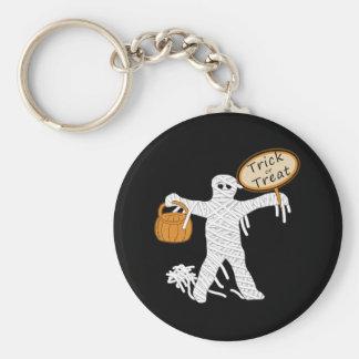 Momia Halloween del truco o de la invitación Llaveros
