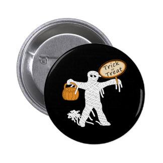 Momia Halloween del truco o de la invitación Pin Redondo 5 Cm