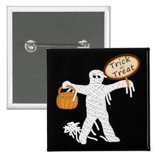 Momia Halloween del truco o de la invitación Pins