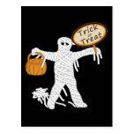 Momia Halloween del truco o de la invitación Tarjetas Postales
