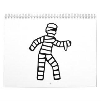 Momia Halloween Calendario De Pared