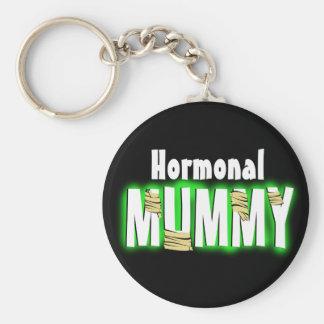 Momia hormonal llavero redondo tipo pin